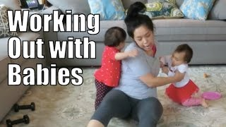 Working Out with Babies! - April 13, 2015 -  ItsJudysLife Vlogs