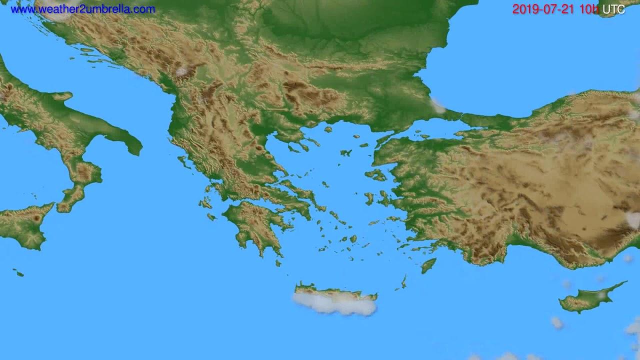 Cloud forecast Greece // modelrun: 00h UTC 2019-07-19