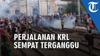 Tawuran Manggarai, Perjalanan KRL Sempat Terganggu