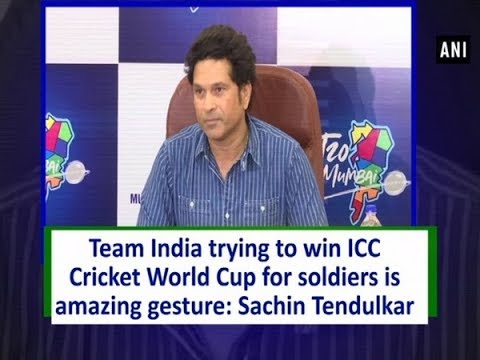 Team India trying to win ICC Cricket World Cup for soldiers is amazing gesture: Sachin Tendulkar