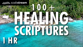 100+ Healing Scriptures With Soaking Music   Bible Verses For Sleep   1 HOUR