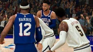 NBA Tuesday 12/10 Denver Nuggets vs Philadelphia 76ers Full Game - NBA 2K20