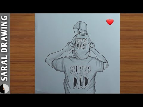 Father's Day Easy Drawing    Saral Drawing