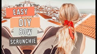 Make Your Own Bow Scrunchies! | DIY Anthropologie Hair Accessories