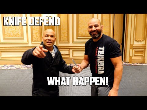 Knife Defend with UFC Fighter Glover Teixeira | Master Wong