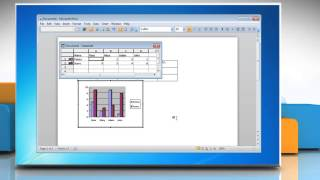 How to make a line graph from a Table in Word 2010