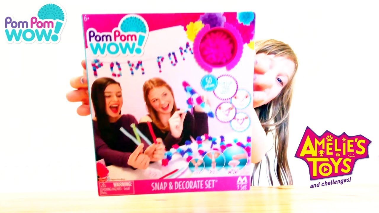 Pom Pom Wow! Snap & Decorate Set