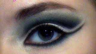 """Схема макияжа глаз """"Бабетта"""" (""""волна"""", """"разъём""""), переозвученный вариант"""