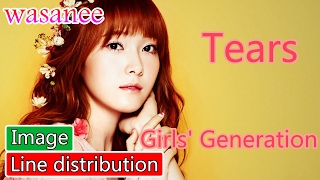 Girls' Generation/Snsd - Tears - Line Distribution (Color Coded Image)