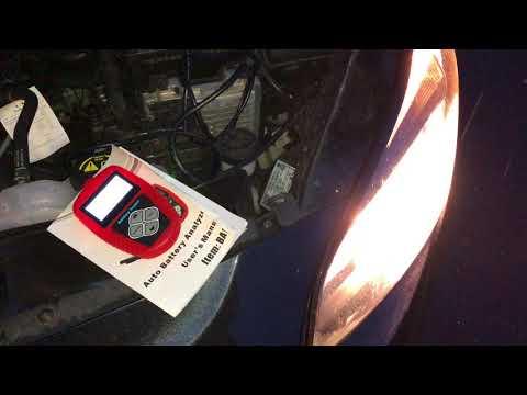 PKW Batterie Test im eingebautem Zustand mit Quicklynks BA101 Batterietester Auto mit 12V Anleitung