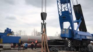 Погрузка груза 150т в порту Тольятти