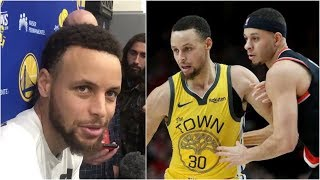 Stephen Curry on facing his brother Seth in the West Finals, how his finger feels & more