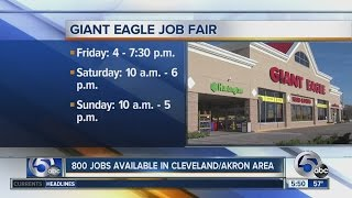 Giant Eagle hiring 800 employees this weekend in Cleveland and Akron