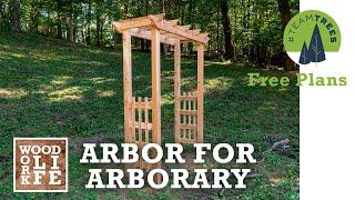 How To Build A Cedar Arbor For Arborary | One Day Build #TeamTrees