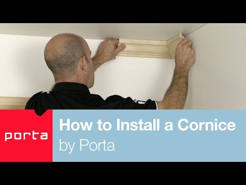 How to Install a Cornice by Porta