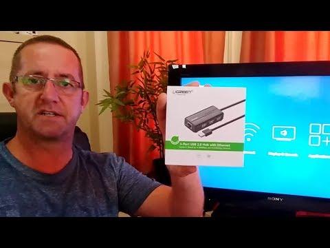 FireTV Stick + Ethernet + USB hub with external storage