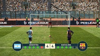 ARGENTINA vs  FC BARCELONA | Penalty Shootout | Messi vs Messi | PES 2019 Gameplay PC