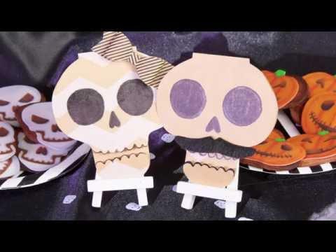 Halloween DIY Schedel uitnodigingen