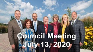 Preview image of City Council Meeting  - July 13, 2020
