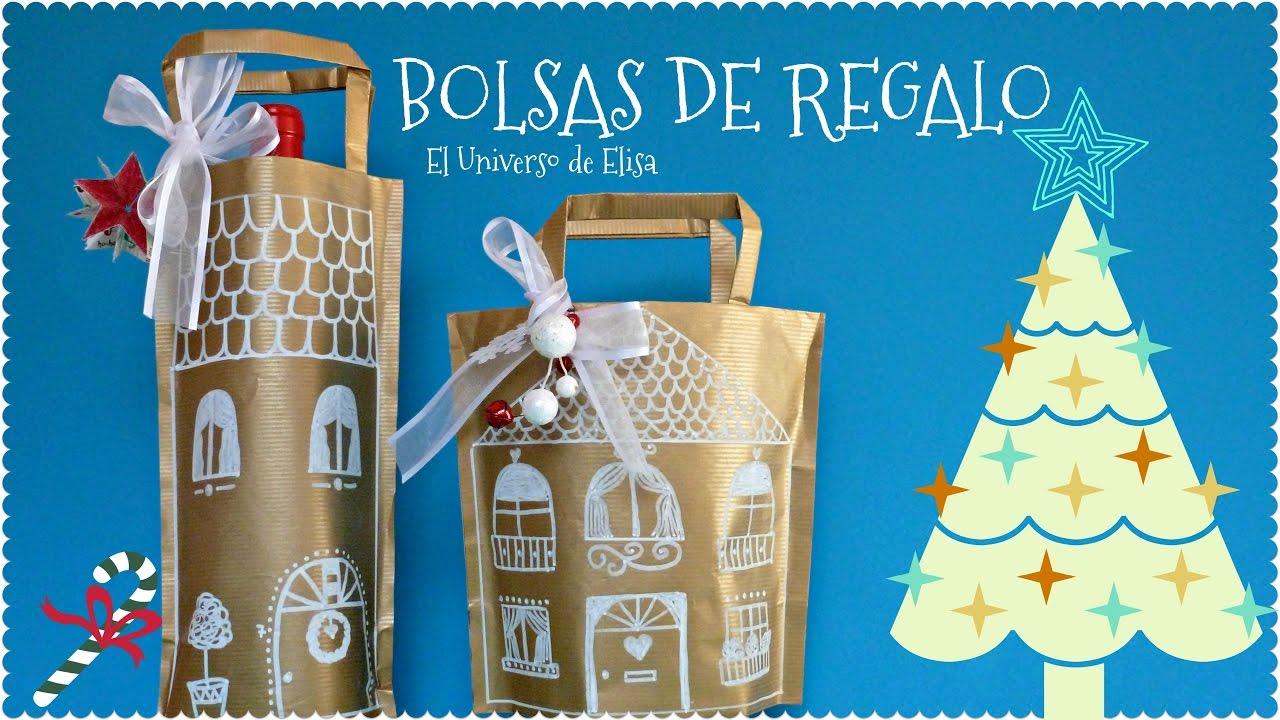 Cómo Envolver Regalos, Bolsas de Regalo Casita de Gengibre, Regalos para Navidad, Ginger House