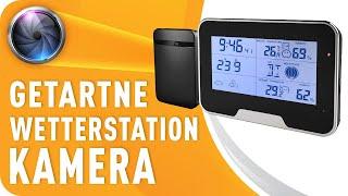 Spionage Kamera in Wetterstation versteckt Full HD Mini Tischuhr Kamera inkl. Bewegungserkennung