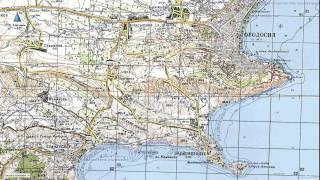 Подробная карта Восточного Крыма