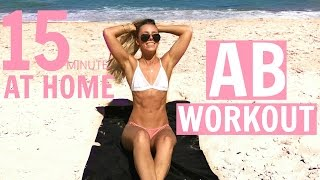 15min AB WORKOUT | At Home Ab Shredder WORKOUT WITH ME by Sarahs Day
