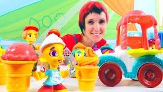 Плей До видео. Грузовичок с мороженым PLAY-DOH. Игры для детей.