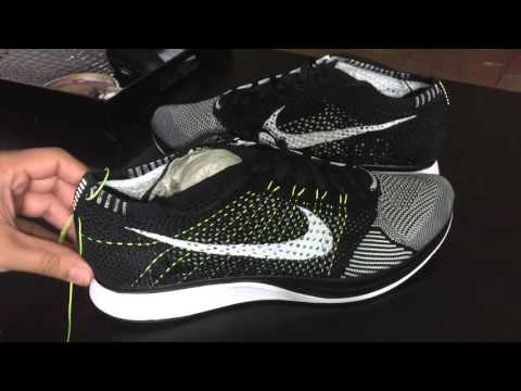 low priced 81946 08892 Nike Flyknit Racer Volt Black-sequoia