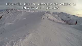 preview picture of video 'Ischgl 2014 - Piste 21 - Black [GoPro HD Hero3+ Black Edition]'