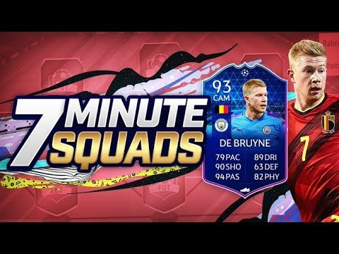 INSANE 93 RATED TOTGS KEVIN DE BRUYNE 7 MINUTE SQUADS vs Jack54 (FIFA 20)