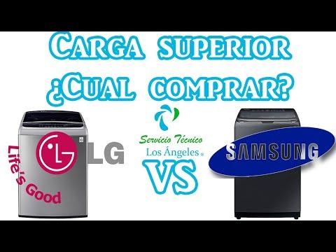 Lavadoras de carga superior LG vs SAMSUNG