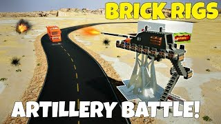 MULTIPLAYER LONG RANGE ARTILLERY CHALLENGE - Brick Rigs Multiplayer Challenge Gameplay