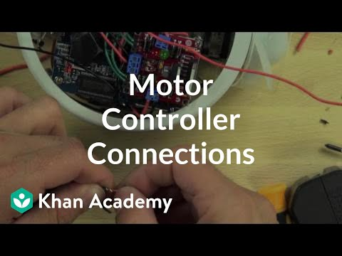 Motor controller connections (video) | Khan Academy on