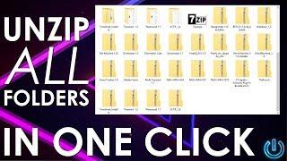 Unzip Multiple Files in One Click - Windows 10