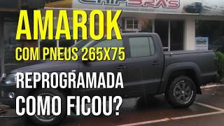 Amarok com pneus 265x75 reprogramada