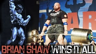 BRIAN SHAW WINS Arnold Strongman Classic 2017