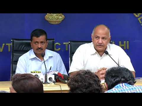 Delhi CM & Dy CM briefs media on Showcause notice served on 449 Schools