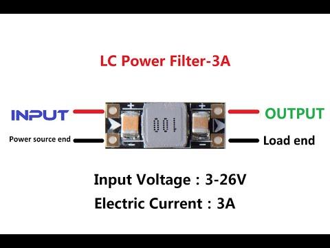 3A 3 26V VTX LC Power Filter, Filtro p VTX da Banggood