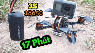 Drone fpv mini bay 17 phút với pin 18650 - Tyro79 + 3s 18650 flight time 17 min - KimGuNi