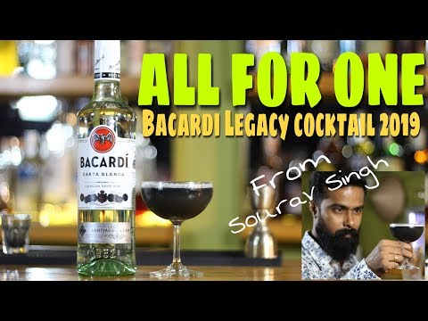 All for One Cocktail   Bacardi Legacy 2019 cocktail   Sourav Singh   Dada bartender
