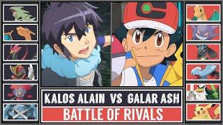 GALAR ASH vs KALOS ALAIN   Pokémon Theme Battle