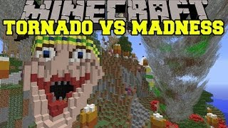 TORNADO MOD VS MADNESS MEDLEY - Minecraft Mods Vs Maps (Storms & TNT)