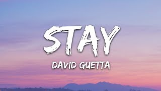 David Guetta Feat Raye   Stay (Lyrics) Don't Go Away