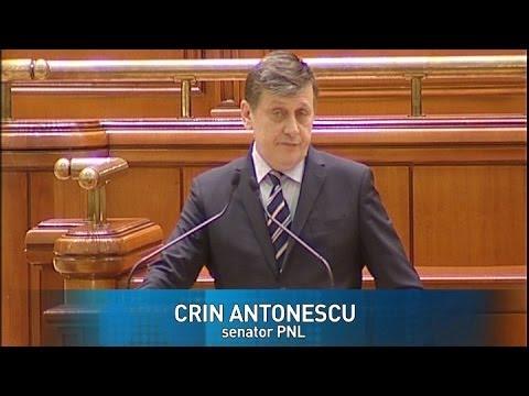 Parlamentul României - demisia lui Crin Antonescu