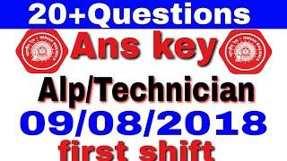 Answer key alp/Technician 09-08-2018 first shift  Exam