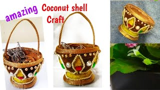 DiyAmazing Craft Idea With Jute Coconut Shellbest Out Of Waste