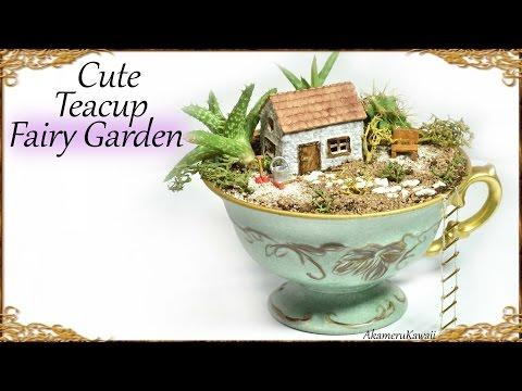Cute DIY Tea Cup Fairy Garden – Miniature Craft Tutorial