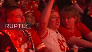 USA: Kansas City Chiefs fans go ballistic as home team wins Superbowl 54