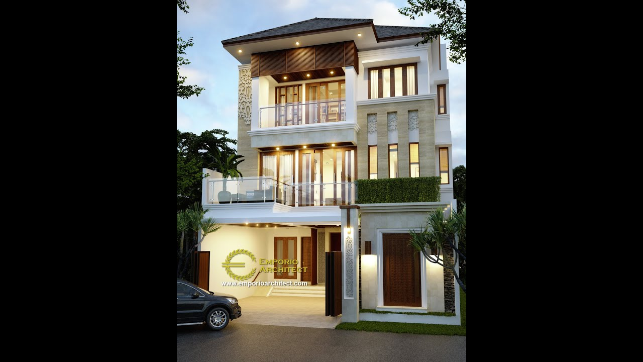 Video 3D Mrs. Yani Villa Bali House 3 Floors Design - Jakarta